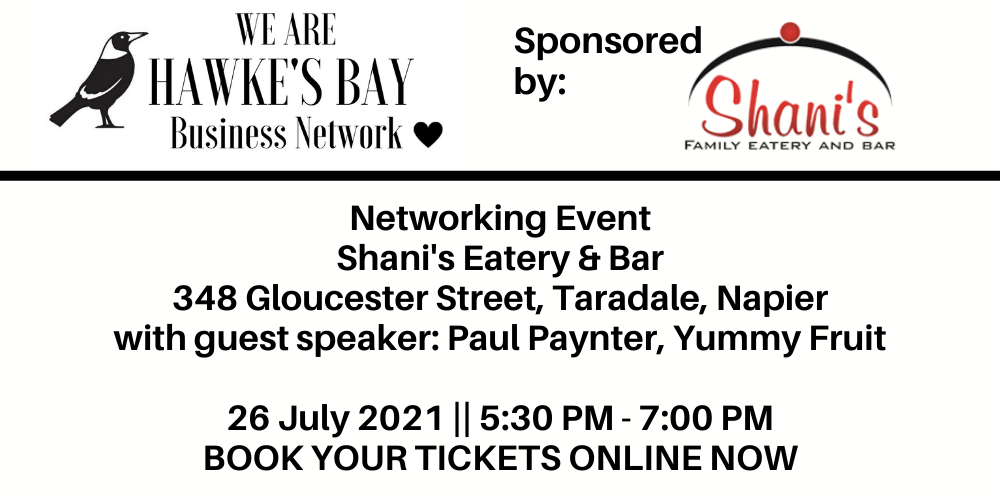 Business Networking event – 26 July 2021 at Shani's Eatery and Bar